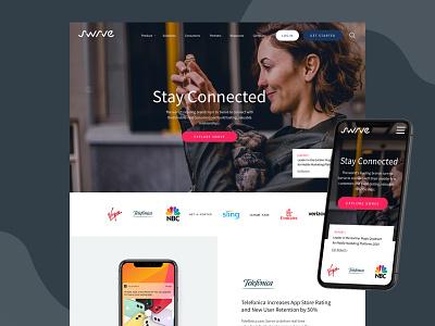 Swrve 2020 Redesign web design branding ux use interface web design website ui