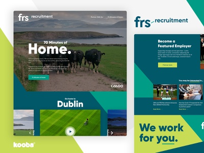 FRS Recruitment | 70 Minutes of Home microsite landing page web design ux use interface design web website ui