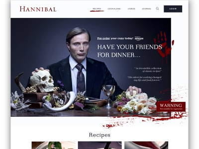 Mocktober 2018 - Hannibal hannibal halloween challenge design ui website mocktober 2018 mocktober