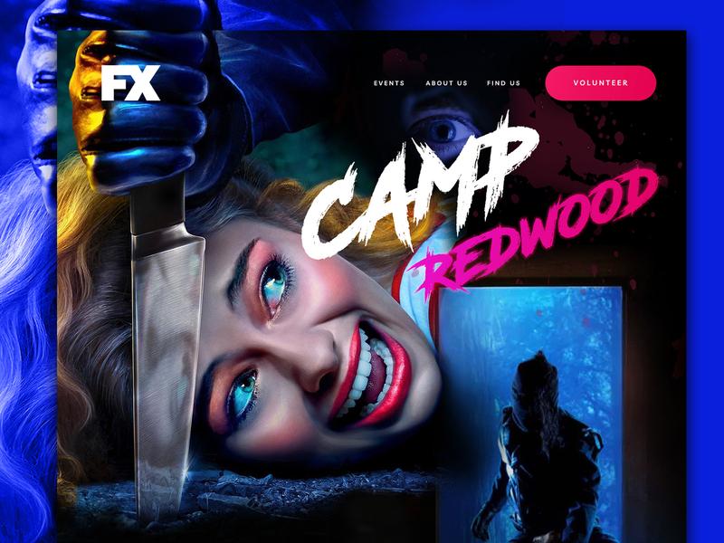 Camp Redwood - American Horror Story 84 ux web halloween design challenge use interface design ui challenge ui web design web site website american horror story halloween mocktober2019 mocktober