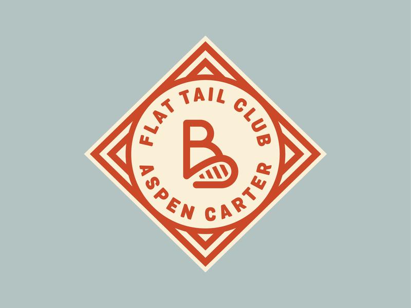 Flat Tail Club #1 badge logo beaver