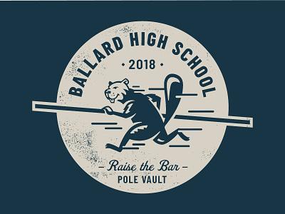 BHS Pole Vault Tee 2 beavers illustration high school wordmark t-shirt pole vault
