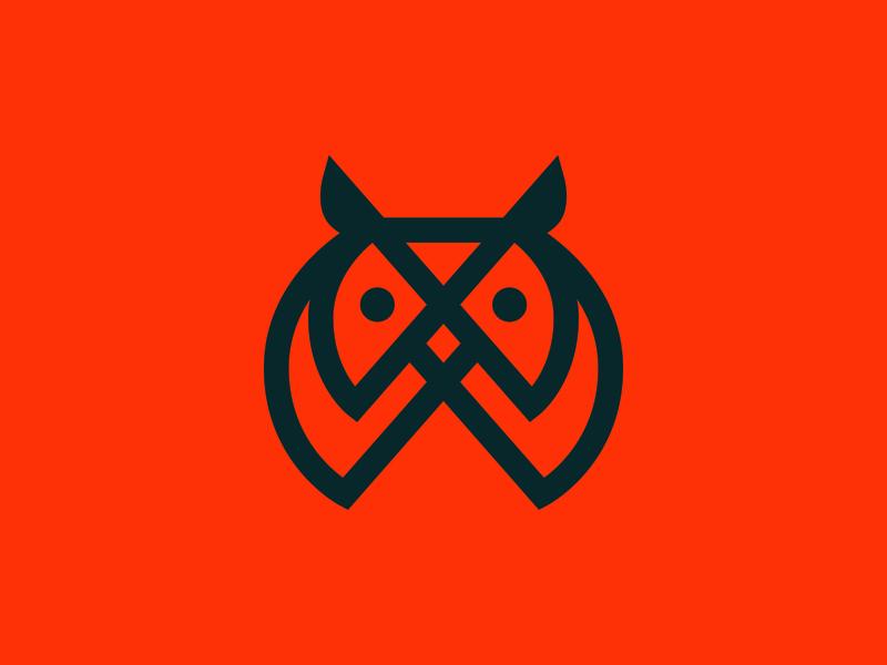 Give a Hoot logo designer owl logo owls