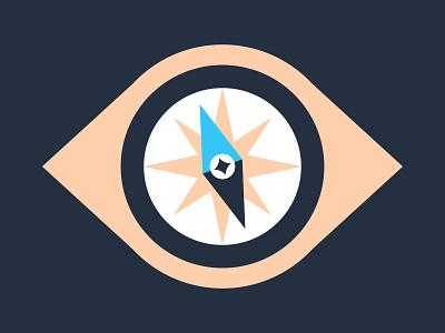 Eye-con visionary tech branding icon direction vision