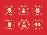 Icon Family for Yakima Chief Hops