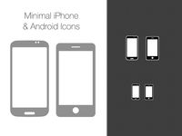 Free Vector Minimal Iphone And Android Icons - PSD