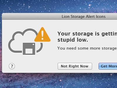 Mac OS Storage Prompt@2x PSD @2x icon warning prompt cloud storage floppy disc