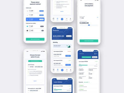 Mobile Loan App bank app banking bank payment option request sketch system design design home screen mobile ui mobile ios app loan ux ui