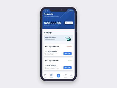 Mobile Loan App Animation conifirm loans loan logo home screen design ux ui