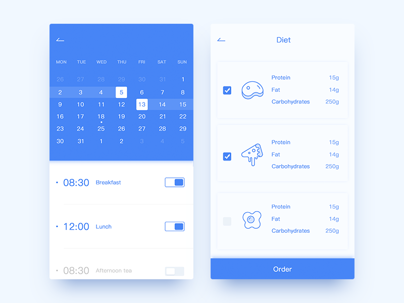 Simple fitness interface