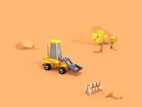 Excavators and roadblocks