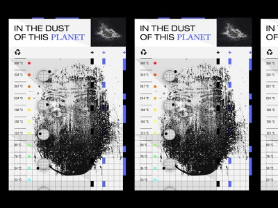 In the Dust of this Planet illustrations grids noise poster graphic black illustration design typography