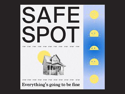 SafeSpot Playlist home sun icon color branding illustration music design typography