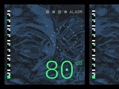 Alarm Playlist graphic experimentation experimental black illustration music design typography