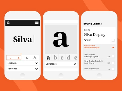 Blackletra Website - Detail Page Mobile interaction tester header foundry responsive web typography mobile
