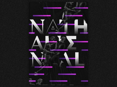 Nathalie Neal - from the album To be Kind by Swans to be kind swans poster gradient black  white illustration typography music