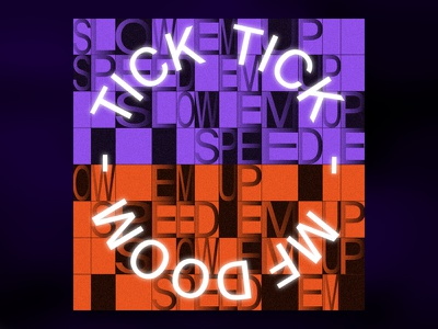 Tick, Tick... by Mf Doom single cover mf doom tick rap hip-hop color black illustration typography music