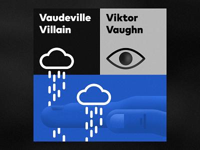 Vaudeville Villain by Viktor Vaughn black design cover rap hip-hop illustration typography music mf doom villain