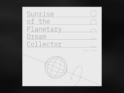 Planetary Dream Collector by Terry Riley icon vector graphic black music illustration design typography
