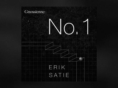 Gnossienne No. 1 by Erik Satie icon white graphic illustration vector design music typography