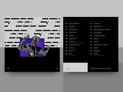 Steel Playlist branding vector graphic black illustration music typography