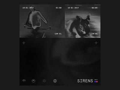 Sirens Playlist icon logo branding grain color white graphic black illustration design music typography