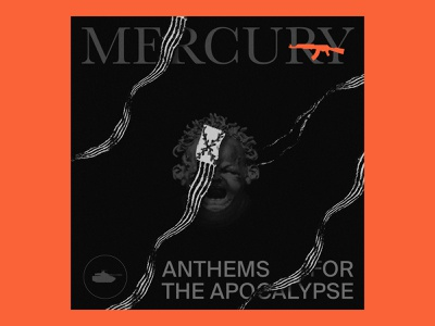 Mercury Playlist music branding color logo graphic black illustration design typography