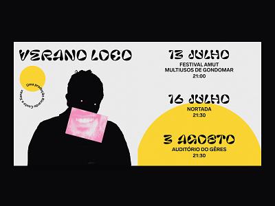 ☀️ Verano Loco ☀️ minimalism typogaphy graphicdesign graphic color comedy branding black illustration design typography