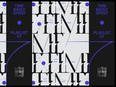 Time Playlist vector color graphic black illustration music design typography