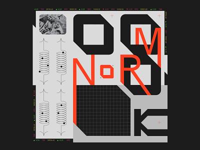 Norm Playlist playlist poster art branding vector illustration design music typography