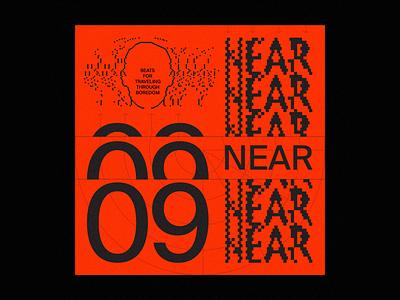 Near Playlist illustration icon retro cover music typography color graphic design design