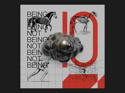 BEING NOT BEING artwork layout photography cover graphic typography design