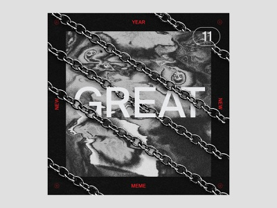 Great Playlist distortion chains artwork cover vector graphic design illustration playlist music typography