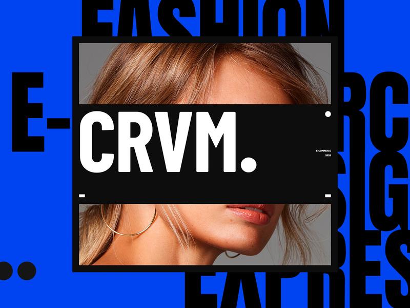 CRVM. concept fashion typography illustration flat branding web design web