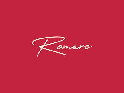 Romero Logo calligraphy design fashion logos logo design calligraphy logo calligraphy fashion logo logotype logo a day logo design concept logo branding concept branding design identity branding branding and identity branding identity design identity