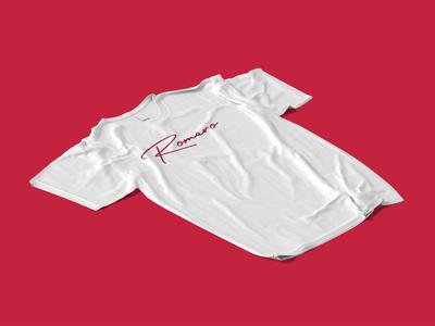 Romero T-shirt calligraphy calligraphy logo logos logodesign fashion logo fashion branding fashion brand logo design logotype logo a day logo design concept logo branding concept branding design identity branding branding and identity branding identity design identity
