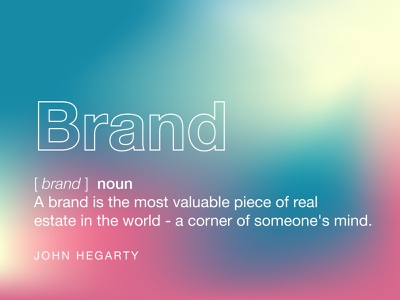 Brand definition from John Hegarty dictionary gradient brand and identity logo design brand and identity branding and marketing agency branding and logo branding and identity branding concept brandidentity brand design brand identity branding agency branding design branding brand