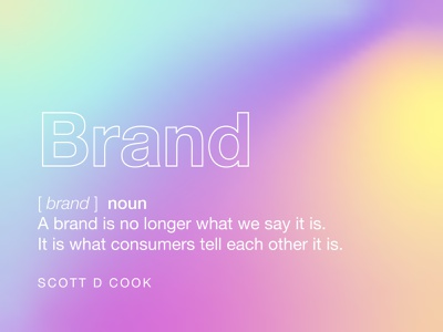 Brand definition from Scoot D Cook dictionary gradient branding and marketing agency branding and logo brand and identity logo design brand and identity branding and identity brand design brand identity branding concept branding agency branding design branding brand