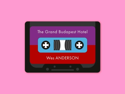 The Grand Budapest Hotel Cassette the grand budapest hotel wes anderson music analogue illustration cassette