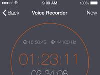 Voice recorder playback full pixels