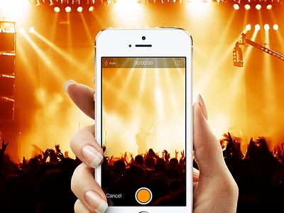 """Video-To-Audio Converter"" Camera music video converter ui colorful app application iphone ios recorder camera"