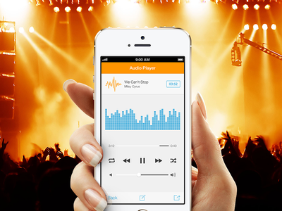 """""""Video-To-Audio Converter"""" Player eq recorder ios iphone application app colorful ui converter video music"""