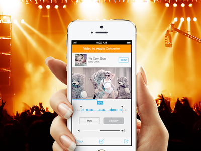 """""""Video-To-Audio Converter"""" Converter eq player recorder ios iphone application app colorful ui converter video music"""