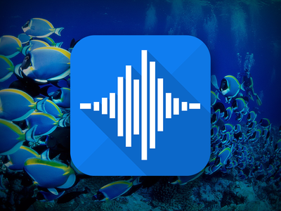 """""""Voice Changer"""" app Icon icon audio fx play effect iphone ios application changer voice beautiful underwater"""
