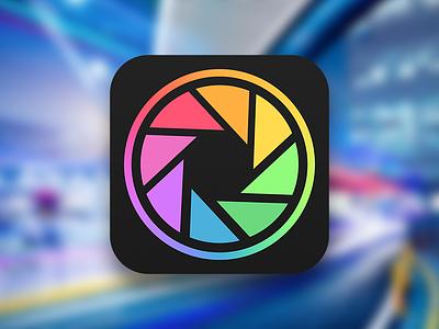 """Camera Pro"" app Icon ipad iphone dark colorful photo ios icon application camera"