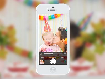 """Camera Pro"" Countdown Camera countdown camera application ios photo colorful dark iphone ipad"