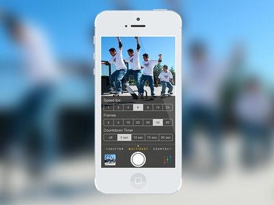 """Camera Pro"" Multi-shot ipad iphone dark colorful photo ios application camera multi-shot"