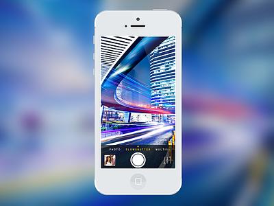 """Camera Pro"" Slow-shutter ipad iphone dark colorful photo ios application camera slow-shutter"