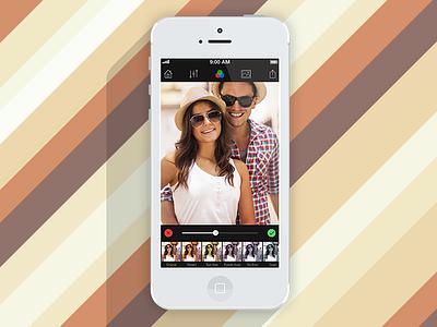 """Camera Pro"" Color Layers ipad iphone dark colorful photo ios application camera color layers"