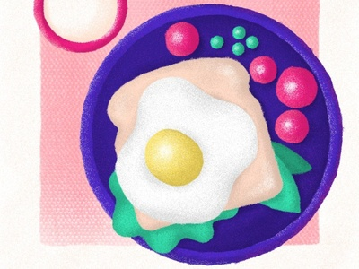 Toast in all its forms tomato dish plate goodmorning cup morning photoshopbrush photoshop texture stayhome freelance lockdown drawfromadistance egg bread toast food breakfast flat design illustration
